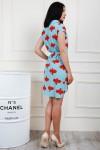 Платье 697-01 цвет голубой