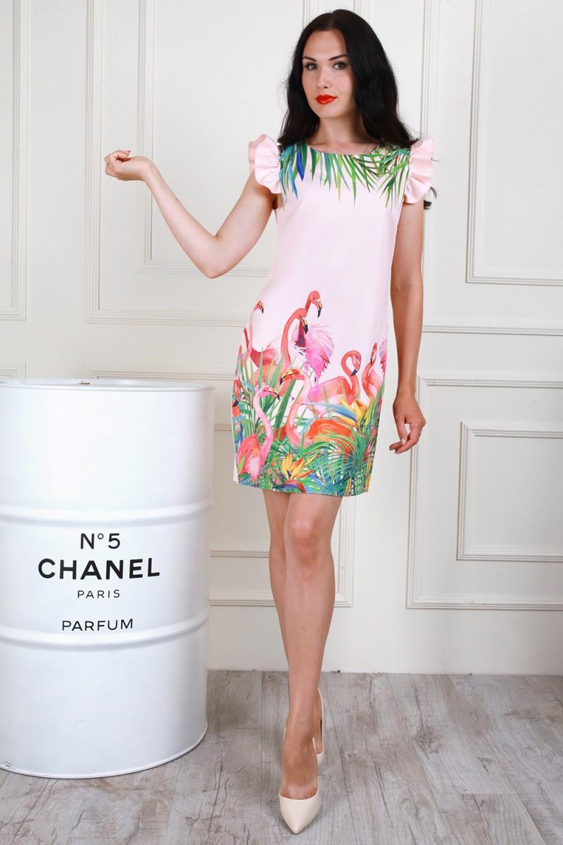 Платье 706-02 цвет пудровый