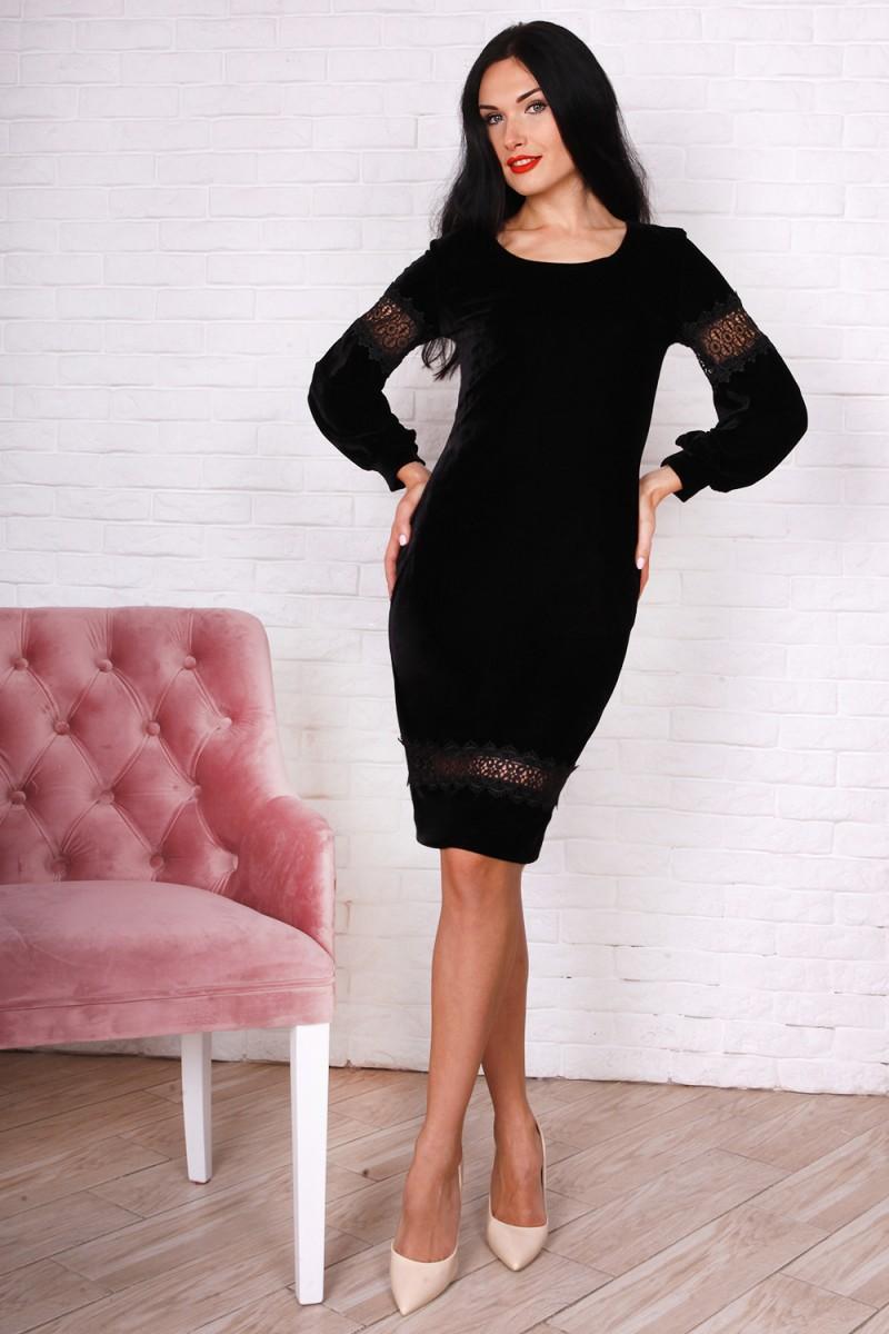 Платье 753-02 цвет черный