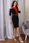 Красивое весеннее платье 771-01 черный
