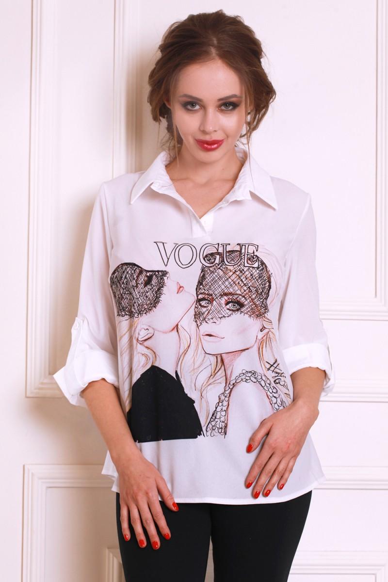 Блуза 556-03 цвет белый