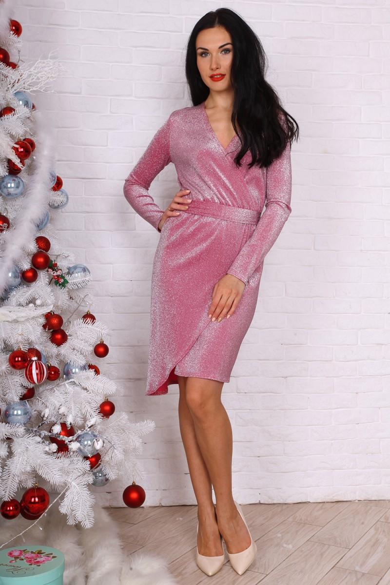 Платье 756-02 цвет розовый
