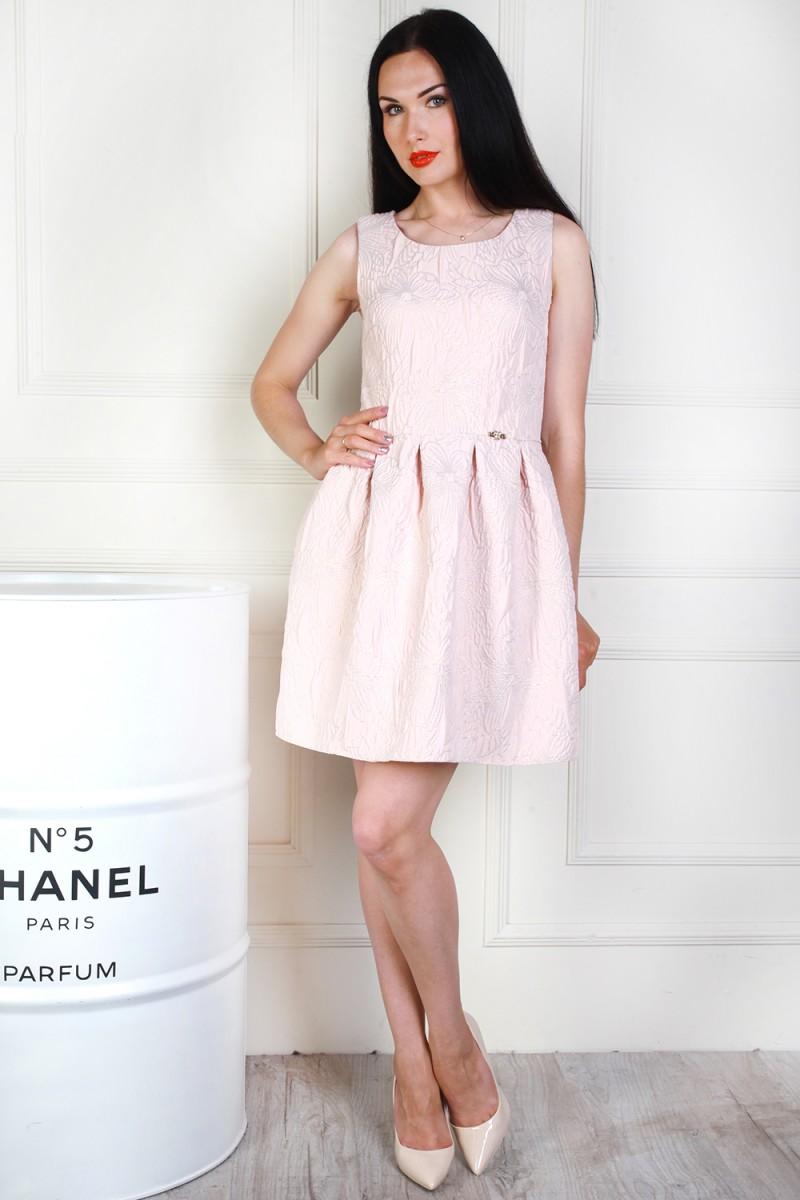 Платье 692-01 цвет светло бежевый