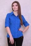 Рубашка 425-01 цвет электрик/персиковый