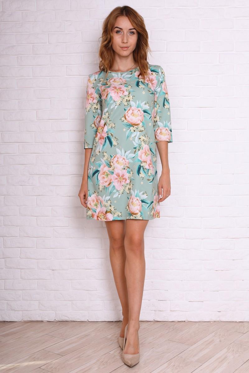 Платье 721-02 цвет оливковый