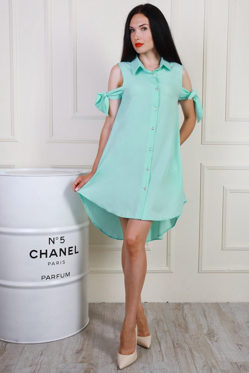 Платье 702-02 цвет мятный