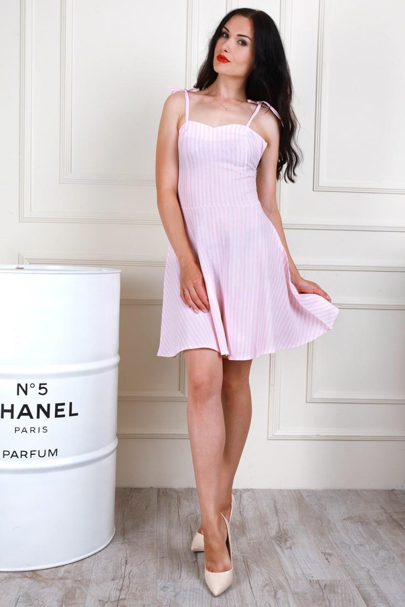 Платье 705-02 цвет пудровый