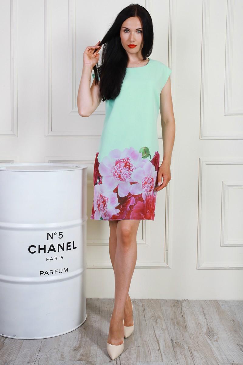 Платье 703-04 цвет мятный