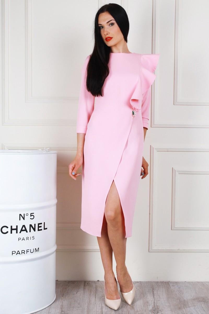 Платье 683-04 цвет пудровый