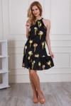 Платье 595-03 цвет черный