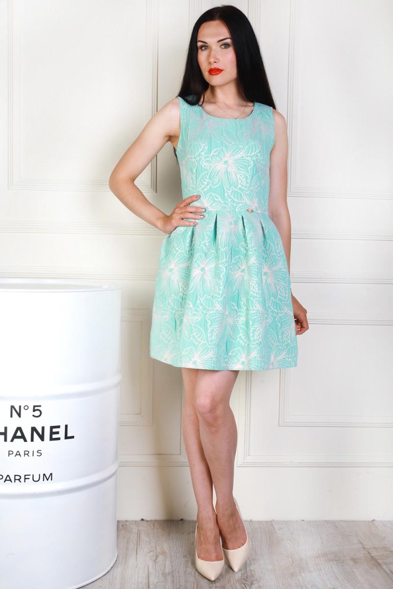 Платье 692-02 цвет мятный