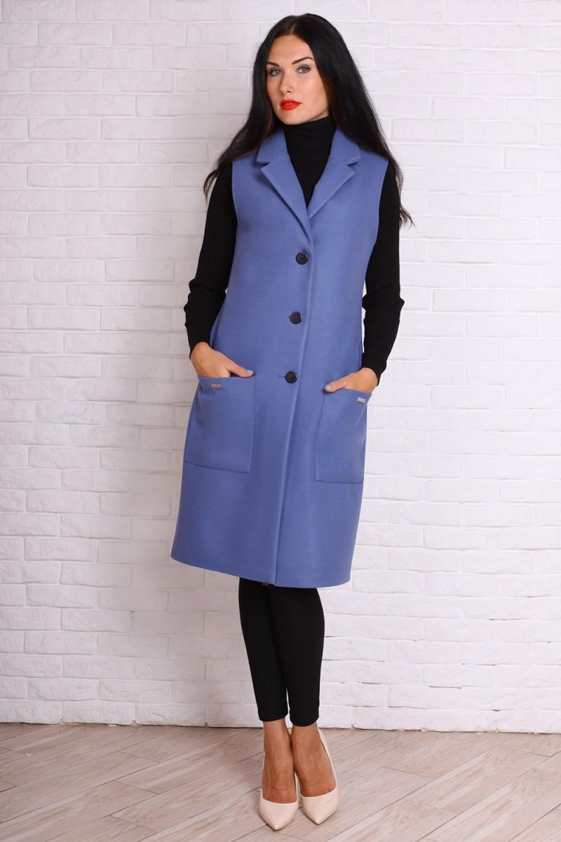 Кардиган 723-01 цвет джинсовый синий