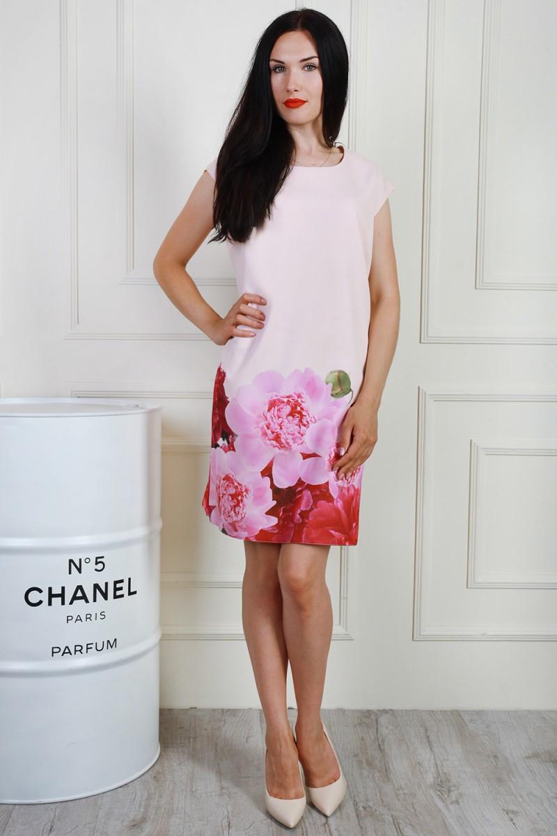 Платье 703-03 цвет пудровый/розовый