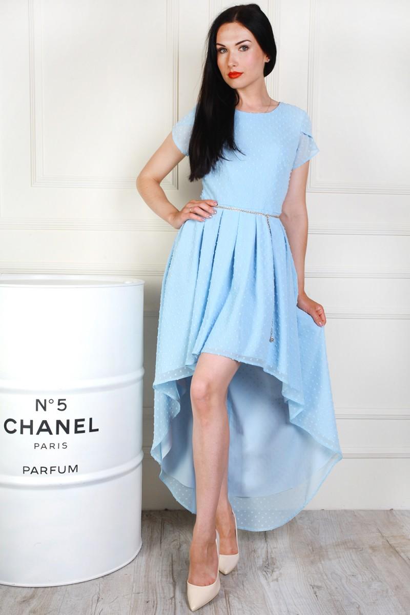 Платье 691-03 цвет голубой