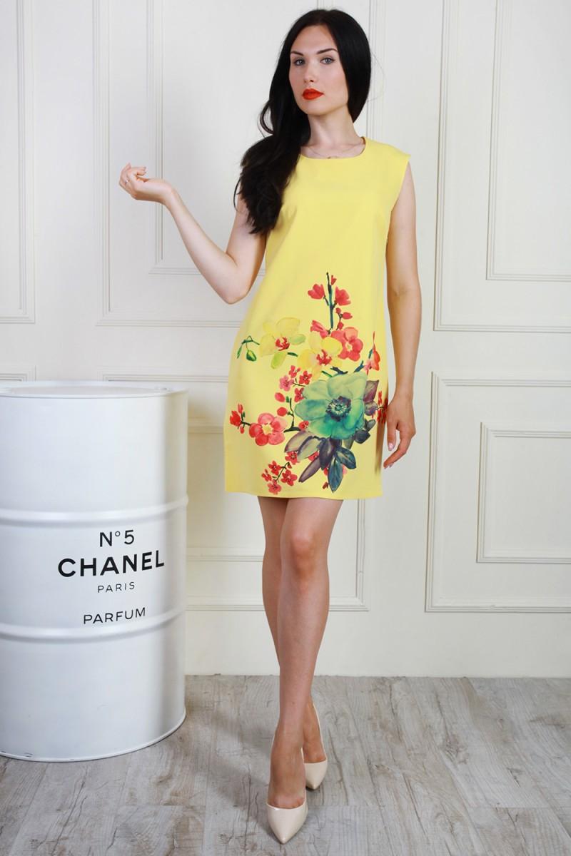 Платье 700-01 цвет лимонный
