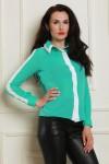 Блуза 1489-02 цвет мятно/белый