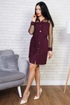 Платье 770-02 цвет марсал