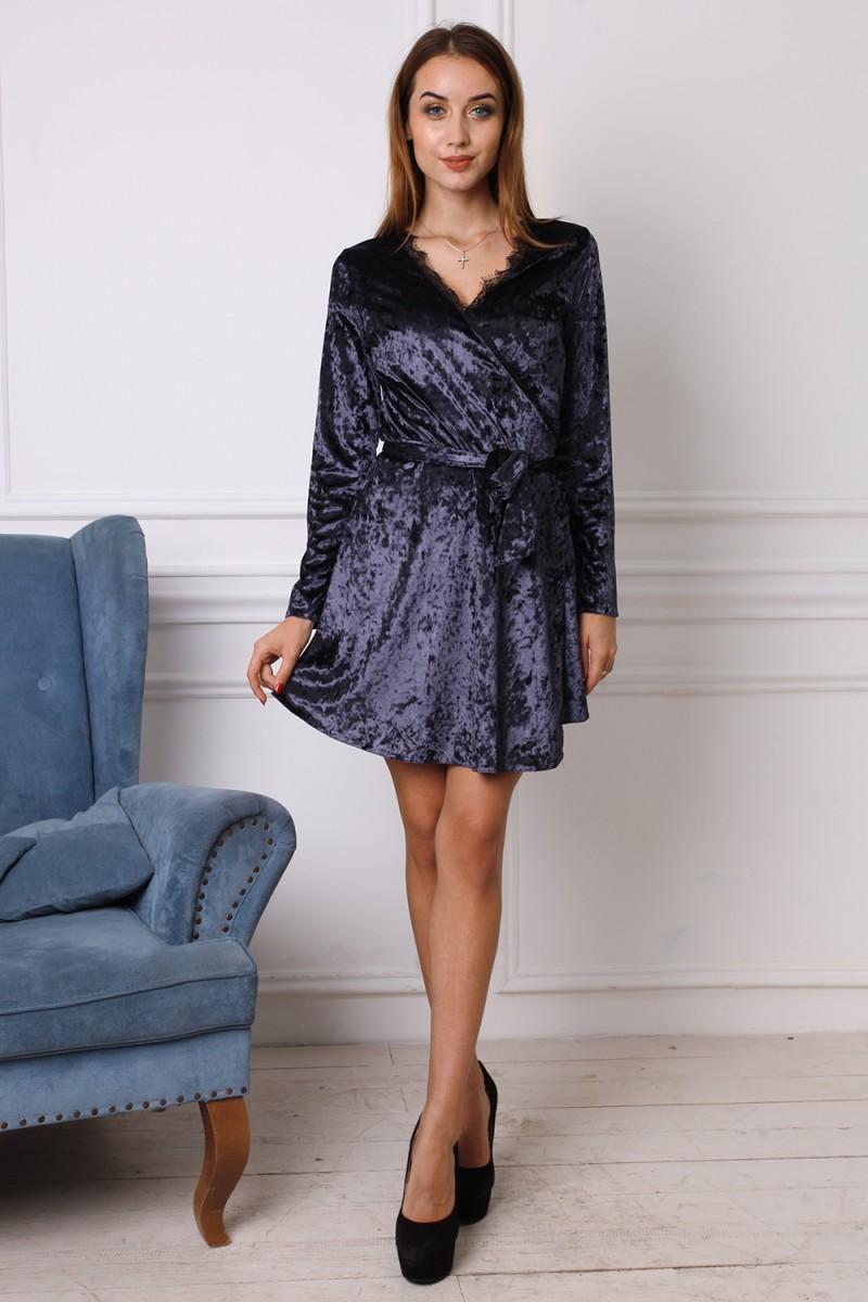 Платье 741-01 цвет темно синий