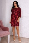 Платье 759-02 цвет бордовый