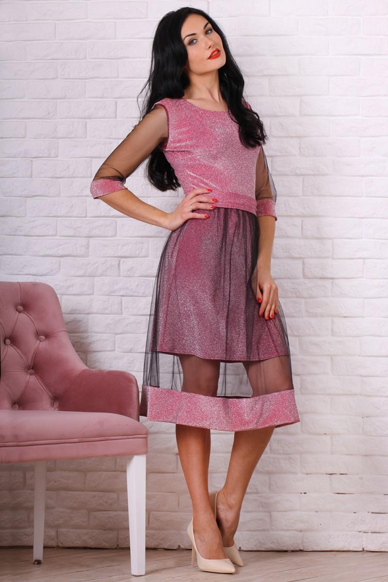 Платье 765-01 цвет розовый