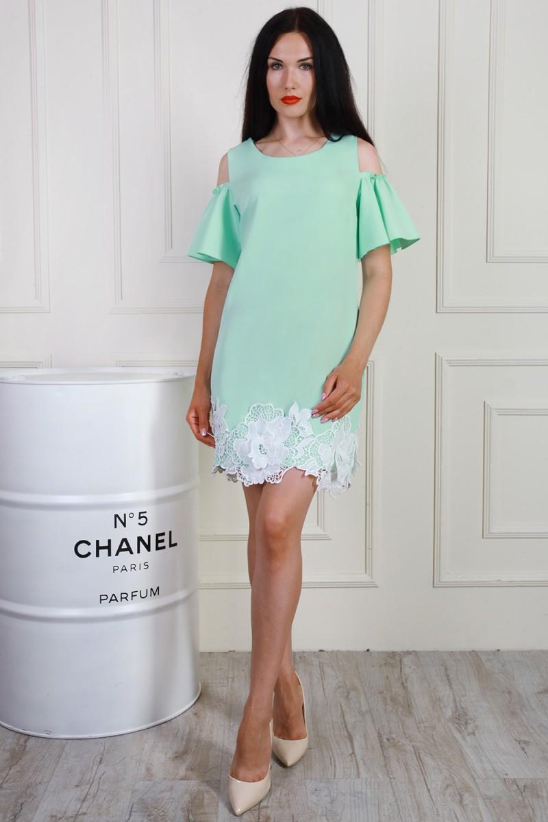 Платье 699-04 цвет мятный