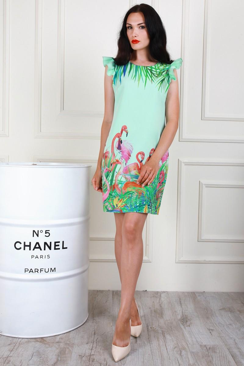 Платье 706-03 цвет мятный