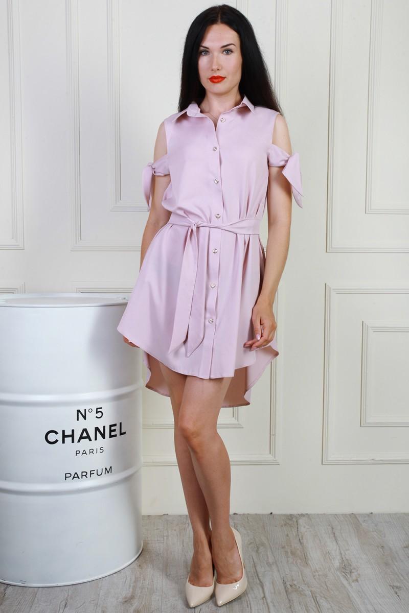 Платье 702-01 цвет розовый