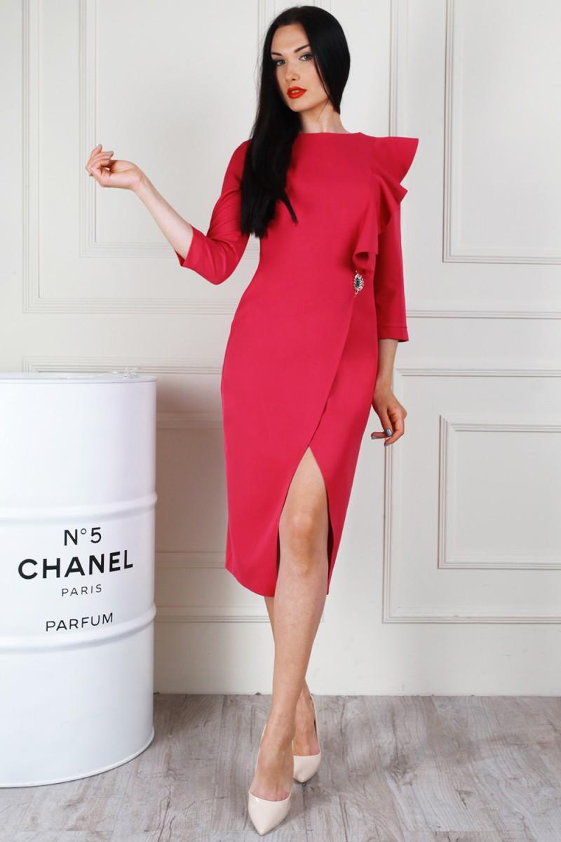 Платье 683-03 цвет малиновый