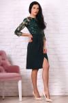 Платье 764-01 цвет бутылочный