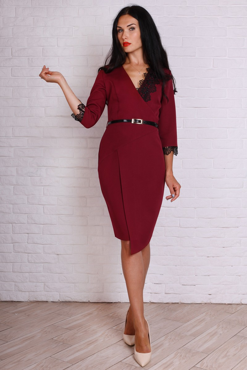 Платье 724-03 цвет марсал