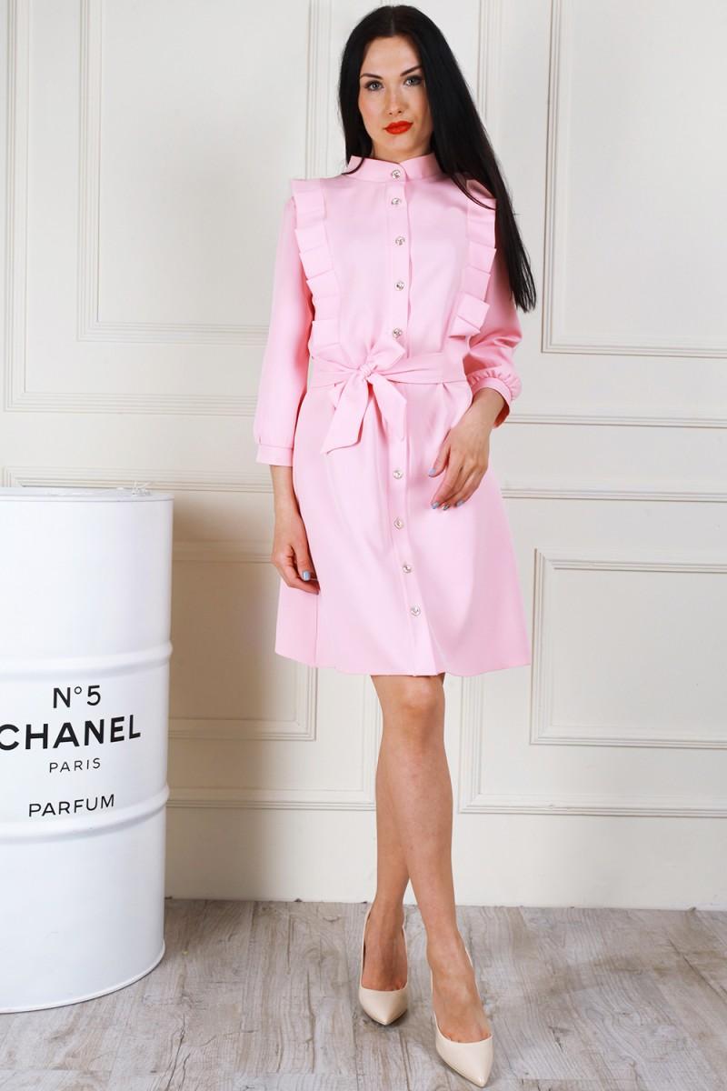 Платье 681-02 цвет пудра