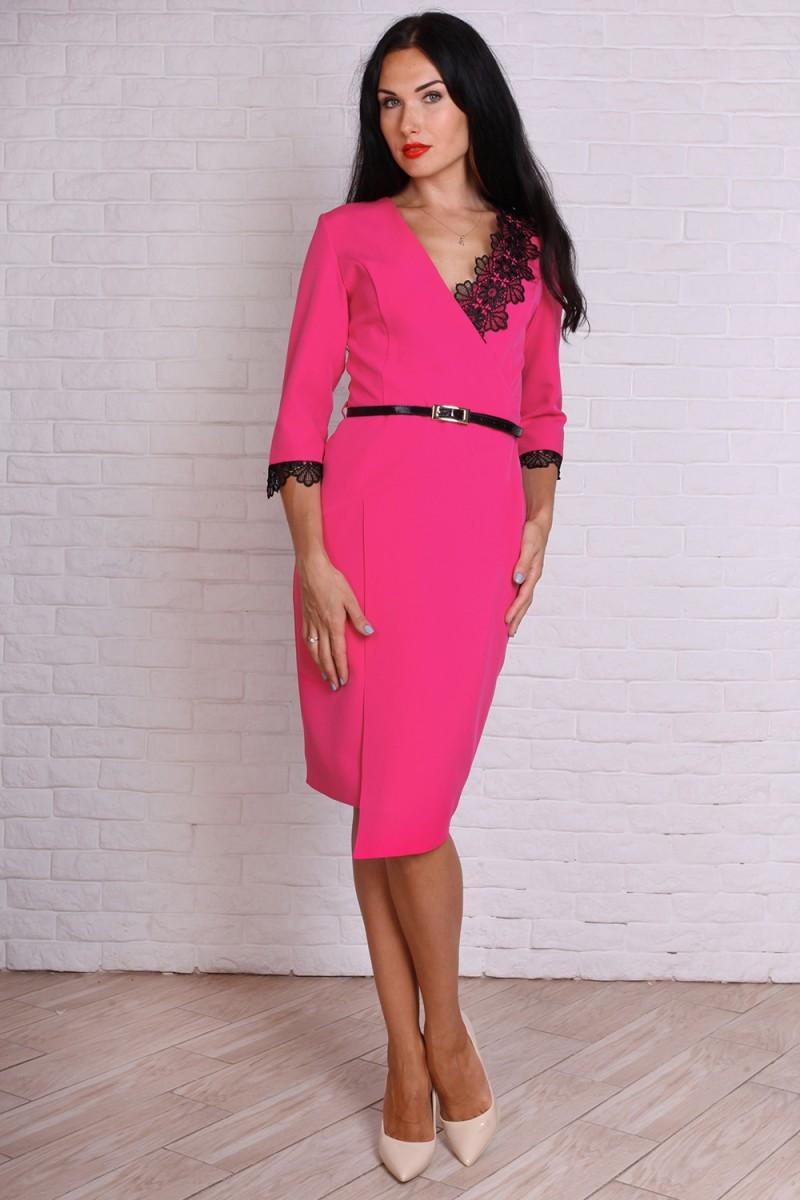 Платье 724-02 цвет малиновый