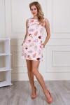 Платье 704-01 цвет пудровый