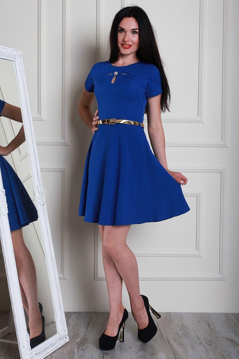 Платье 5469-01 цвет электрик