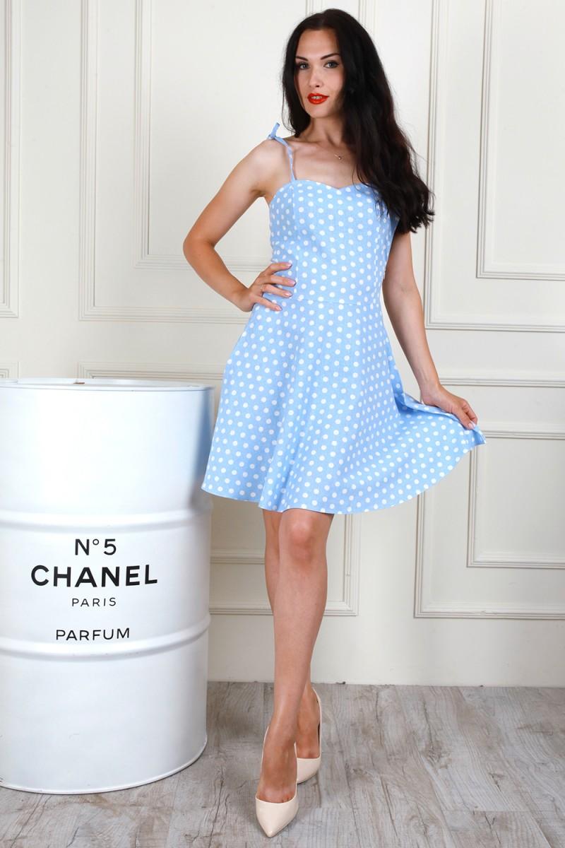 Платье 705-01 цвет голубой