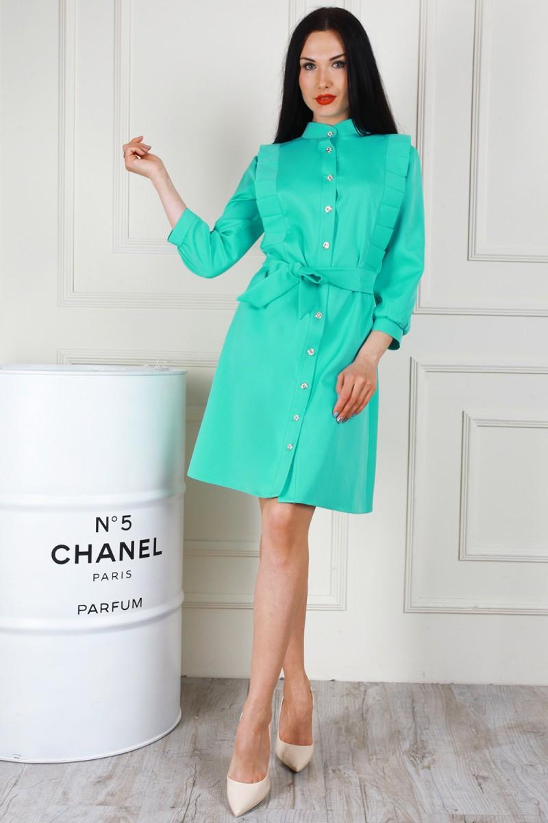 Платье 681-01 цвет мятный