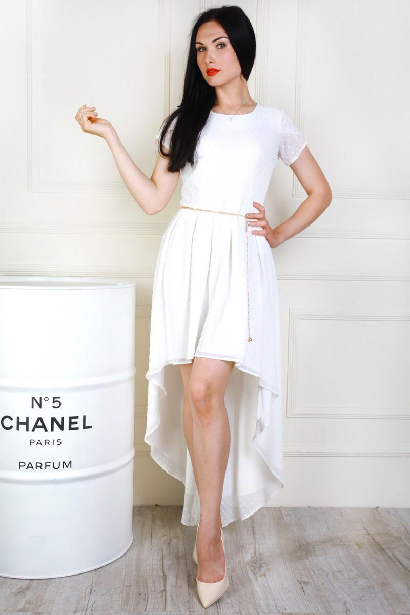 Платье 691-02 цвет молочный