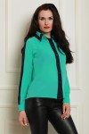 Блуза 1489-01 цвет мятно/синий