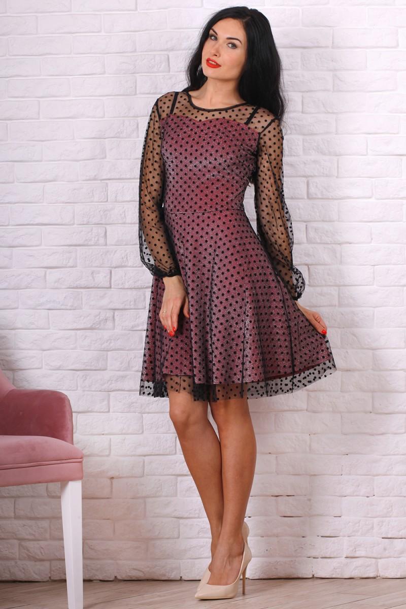 Платье 766-01 цвет розовый