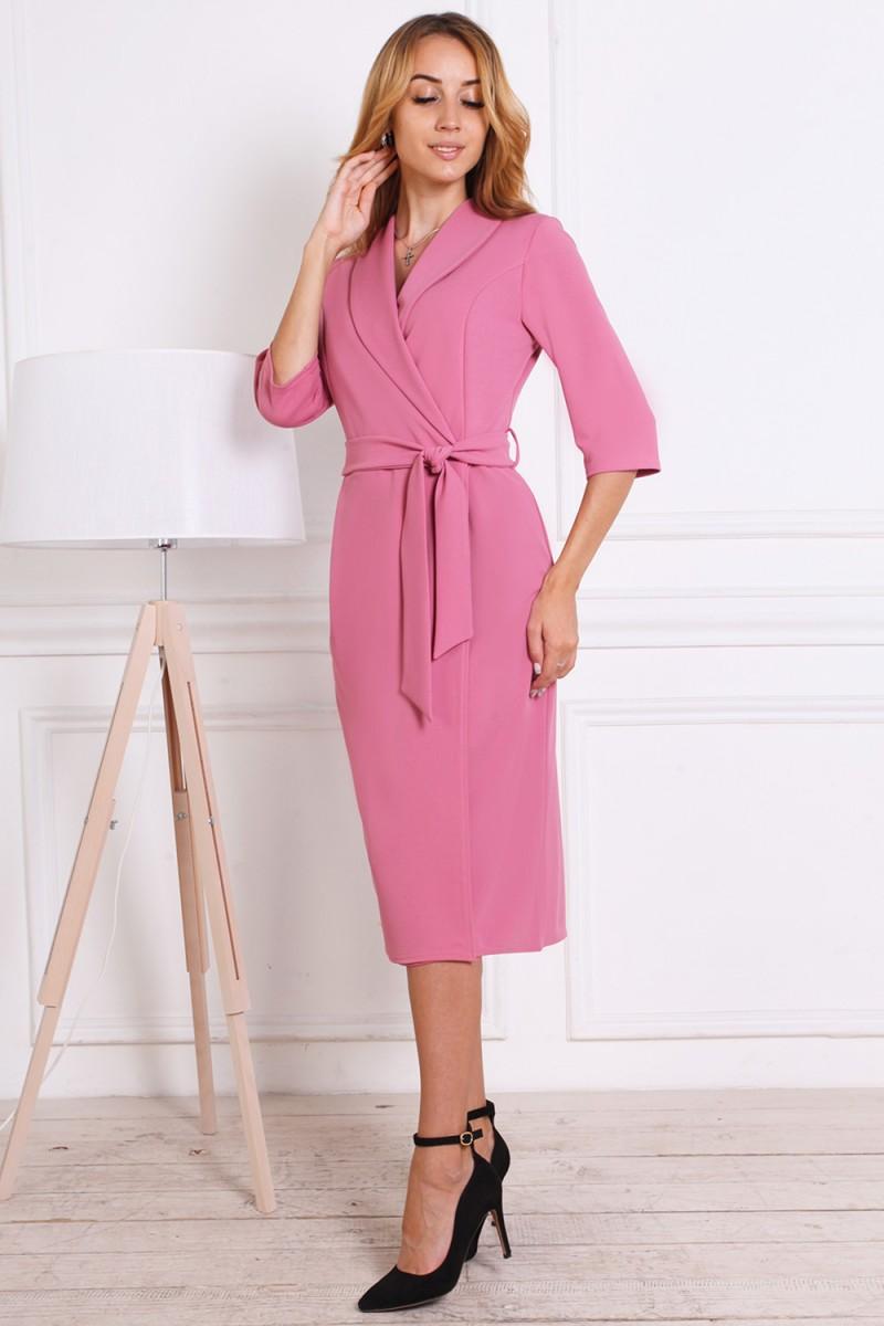 Платье на осень 811-01 цвета фуксия