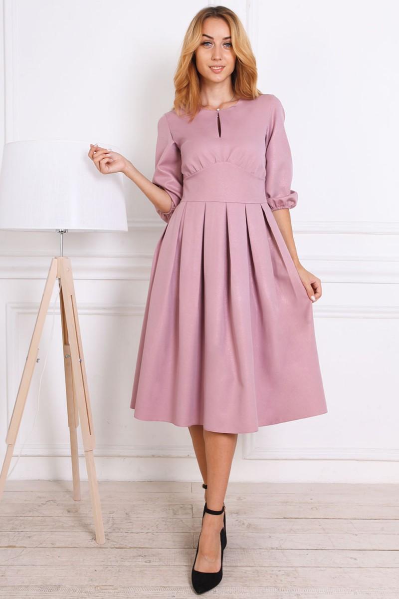 Осеннее платье 813-01 цвета фриз