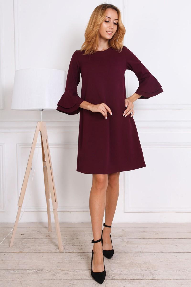 Платье осень-зима 815-02 цвета марсал