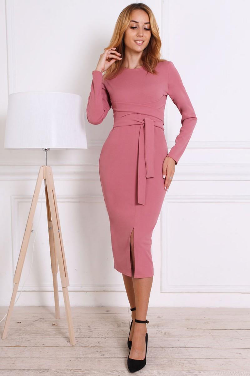 Женское платье 816-02 цвета фрез