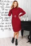 Красивое платье 820-01 цвета марсал