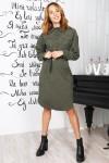 Красивое платье 820-03 оливкового цвета