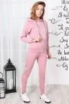 Женская кофта с застежкой 826-01 цвет пудра