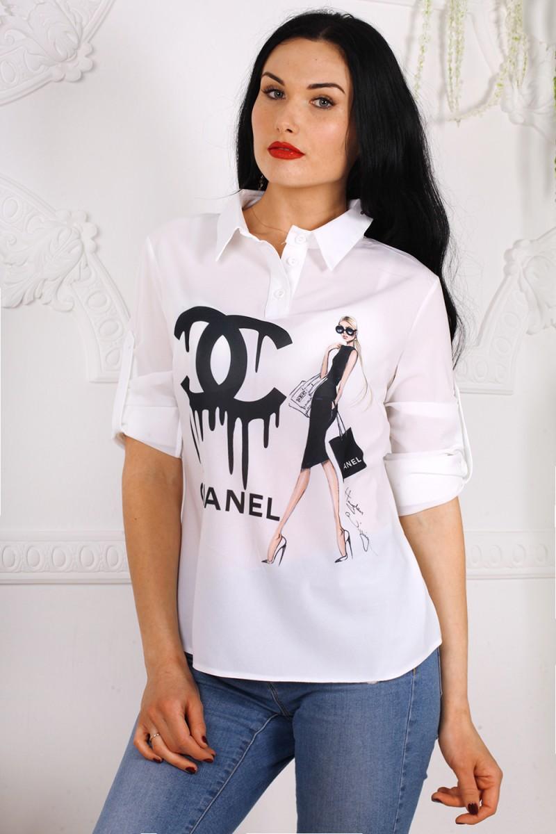 Блуза 556-06 цвет белый